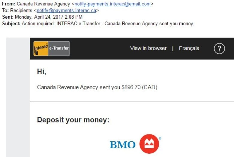 Taxpayers Beware Cra Email Rebate Scam On The Rise This Tax Season Cbc News