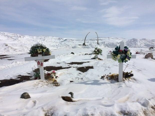 Iqaluit cemetery winter