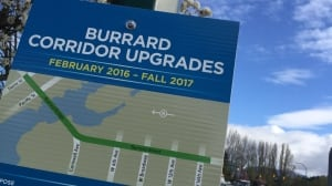 Burrard Bridge reconfiguration complete with heritage lighting and fewer vehicle lanes