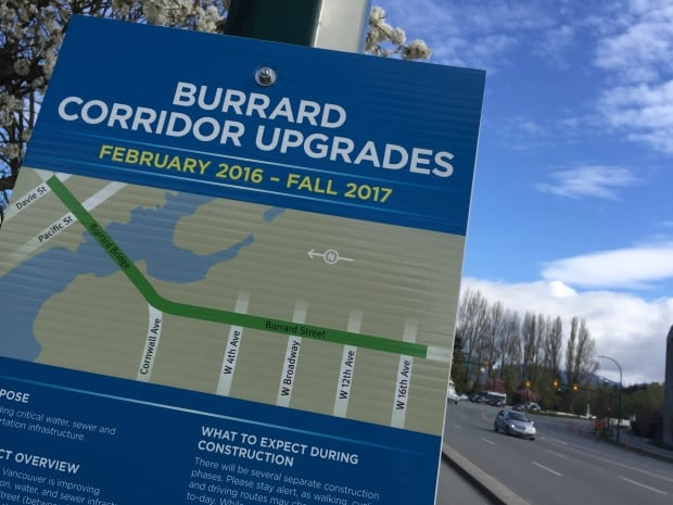 Burrard Bridge construction