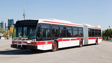 TTC articulated bus