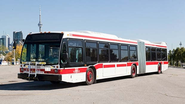 TTC's articulated low-floor diesel buses are manufactured by Nova Bus