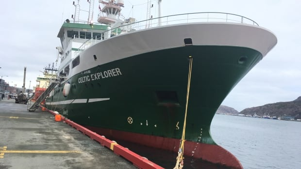 The Celtic Explorer is owned by the Irish Marine Institute in Galway.