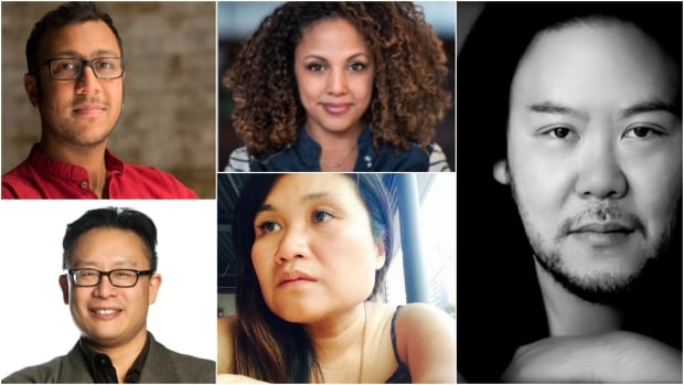 A new wave of Canadian theatre artists is pushing past existing boundaries to make inclusive storytelling the new normal. Seen clockwise from top left are Ravi Jain, Weyni Mengesha, Stafford Arima, Nina Lee Aquino and Jovanni Sy.
