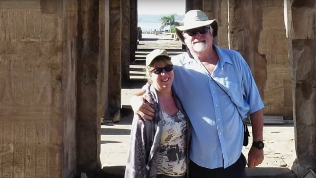 Steffanie Strathdee and Tom Patterson are shown vacationing in Egypt in late 2015, before he contracted a multidrug resistant superbug and had to be medically evacuated.