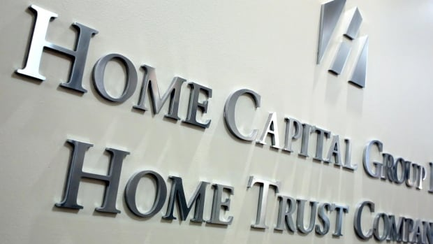 The entry to Home Capital Group's headquarters are seen in the financial district of Toronto in this April 2017 photo.
