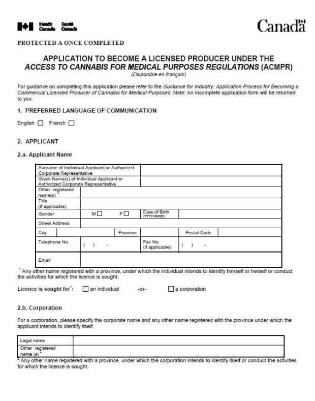 ACMPR application