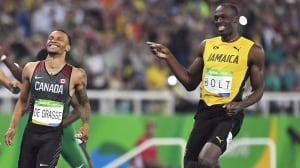 Andre De Grasse's mission: Beat Usain Bolt before he retires