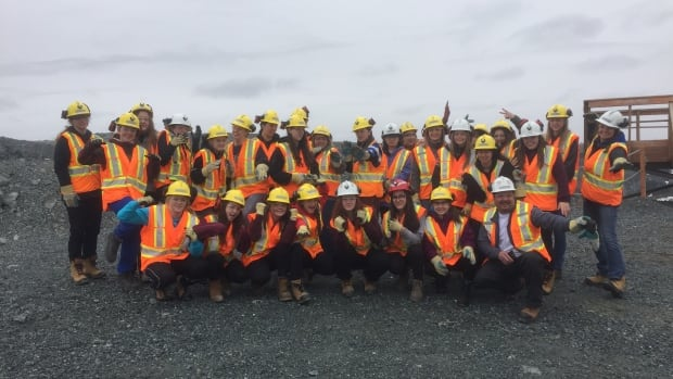 About 30 students from three school boards in Thunder Bay, Ont., toured Lac des Iles palladium mine to learn about women in the skilled trades.