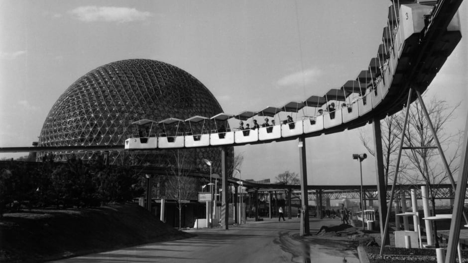 Buckminster Fuller's geodesic dome, home to the American pavilion at Expo 67.