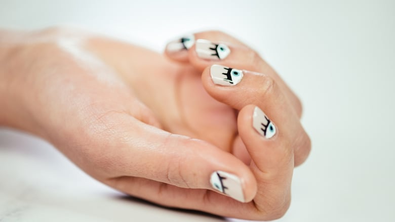 Evil eye graphic nail art tutorial cbc life watch the easy step by step video prinsesfo Image collections