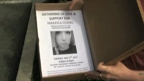 Community rallies for missing Nanaimo teen Makayla Chang