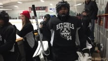 Eabametoong girls hockey goalie