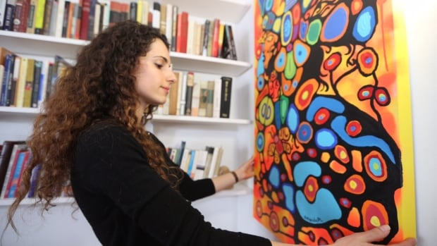 Amanda PL, a non-Indigenous artist, says she was inspired by the Woodlands style made famous by Norval Morrisseau, with a focus on nature, animals and Indigenous spirituality.