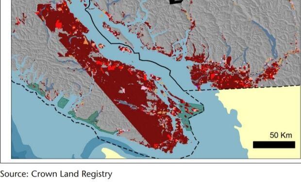 Crown land map