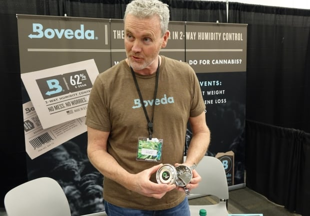 drew Emmer, Boveda spokesperson, at the Cannabis Canada Forum April 29, 2017