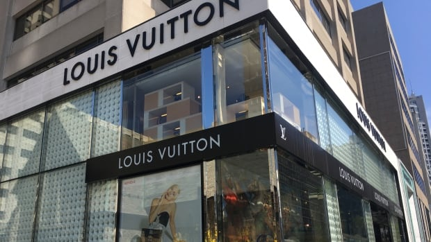 A Louis Vuitton store is pictured on Bloor Street in Toronto, where luxury bags and accessories are sold at high prices.