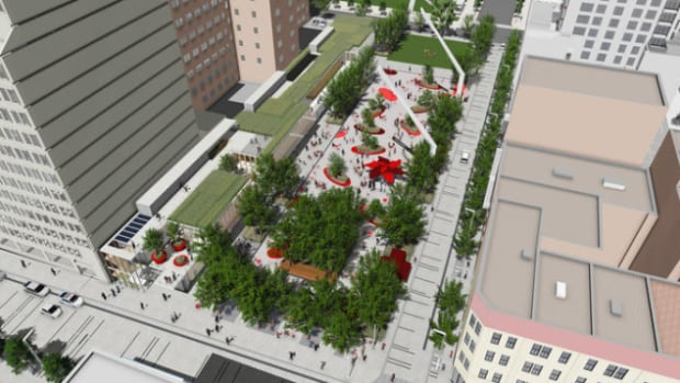 Captivating The New Square Will Include An Urban Terrasse And Public Green Space  Between Ste Catherine Images