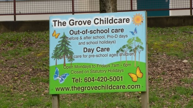 The Grove Chidcare operates out of Forest Grove Elementary School in Burnaby, B.C.