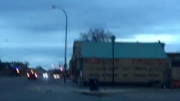 A screenshot from a video posted on Periscope this morning in Whitehorse after a 6.2 magnitude earthquake.