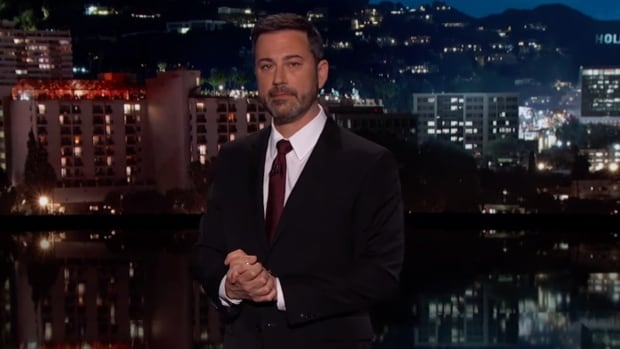 An emotional Jimmy Kimmel addresses his audience, recounting his newborn son's open-heart surgery and making a plea that all American families get the life-saving medical care they need.