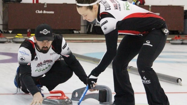 Reid Carruthers, left, and Joanne Courtney earned Canada a berth for the 2018 Olympic Games.