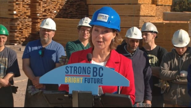 B.C. Liberal Leader Christy Clark said, if re-elected, her government will impose a carbon levy on thermal coal shipments through the province, in retaliation for U.S. softwood lumber tariffs.