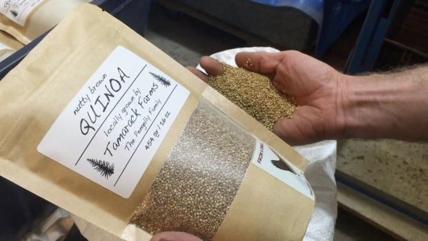 Ryan Pengelly grows, processes and packages his quinoa right on his farm near Erickson, Man.