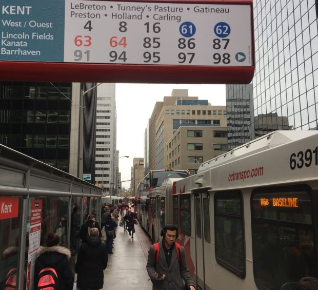 Buses Kent and Albert Ottawa gas leak