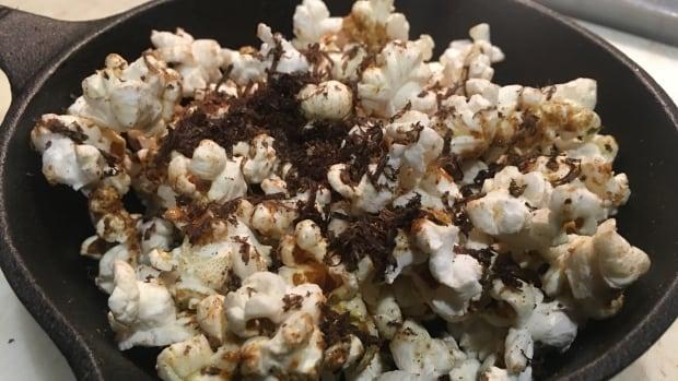 Chef John Alvarez is seving truffled cricket popcorn at F&B Walkerville in Windsor, Ont.