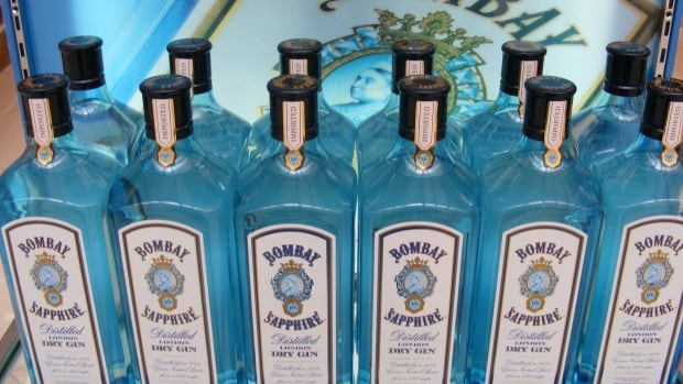 The CFIA says some bottles of Bombay Sapphire dry gin may contain almost twice as much alcohol as claimed on the bottle.