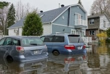 Pierrefonds flood cars