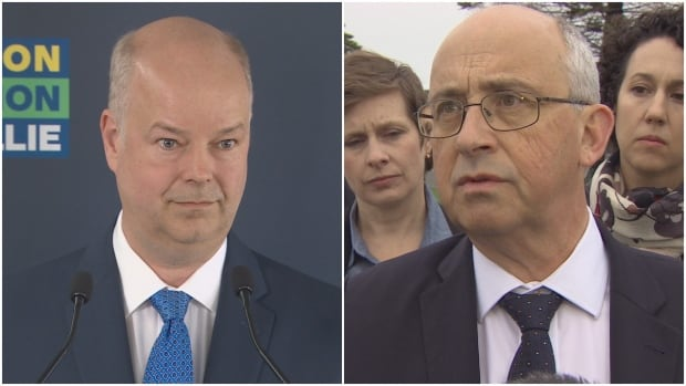 PC Leader Jamie Baillie and NDP Leader Gary Burrill