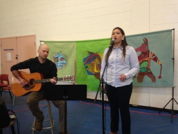 Eskasoni music teacher Carter Chaisson and Kalolin Johnson