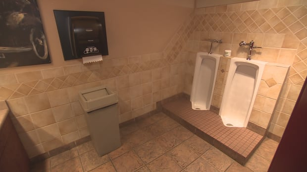 The washroom at Twist and Shout is open to the public. The owners of the restaurant opened up their washrooms to the public for the last two years.