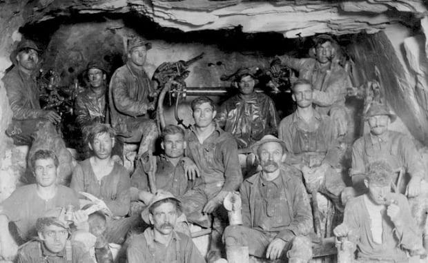 Connaught tunnel workers