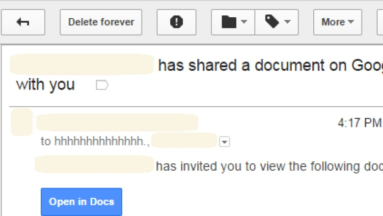 someone has shared a document on google docs with you watch out