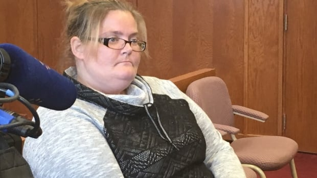 Pamela Pike awaits her court appearance in Grand Falls-Windsor on Thursday. Pike entered a guilty plea on Manslaughter, but maintained a not-guilty plea to murder.