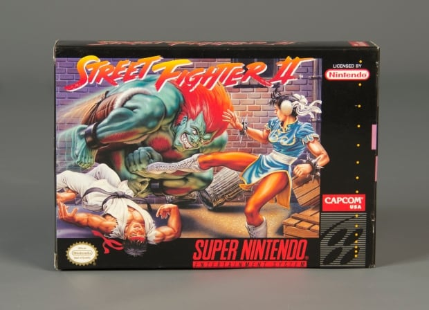 Street Fighter II box art SNES