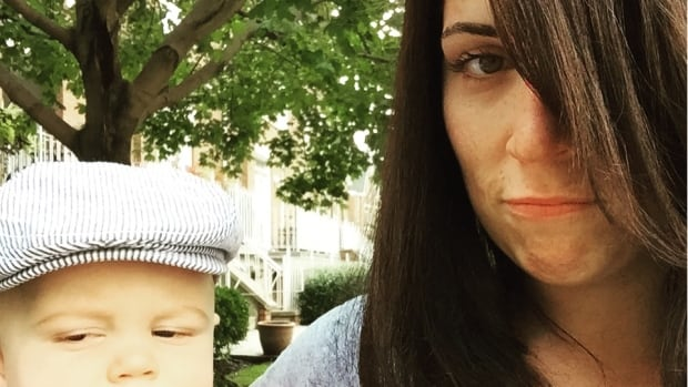 Rhiannon and her son Jude are both bummed about Toronto's lack of affordable childcare