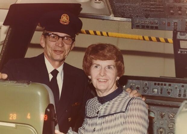 Bill Finlay last flight with Shirley Finlay