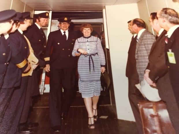 Bill Finlay leaving his last flight in 1979