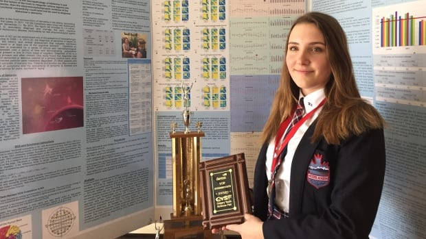 Crystal Radinski, a Grade 10 student at Webber Academy, has been selected to represent Calgary at the Canada-Wide Science Fair.