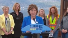 Christy Clark in Kelowna