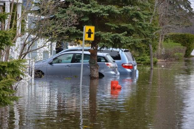 Cars Pierrefonds flood