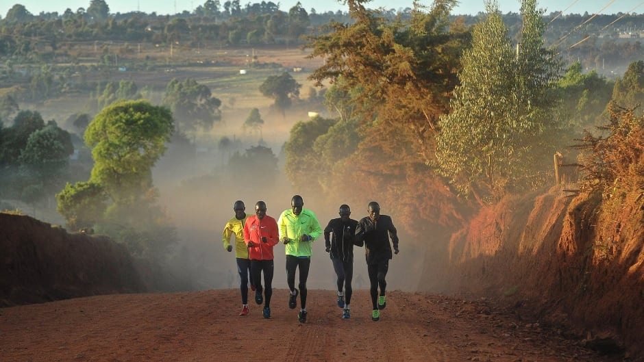 Athletes training in Kenya's renowned high-altitude village of Iten, which has emerged as the go-to training destination for the world's elite runners.
