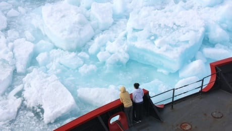 cutting multiyear arctic ice