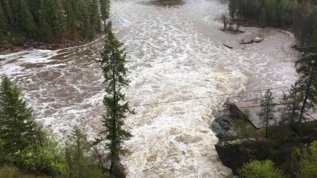 Kettle River flooded