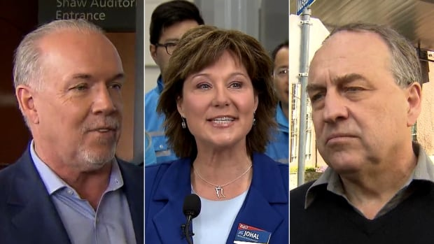B.C. Liberal Leader Christy Clark might have a slight edge over the NDP's John Horgan in Tuesday's provincial election if the seat projections based on the latest polls prove correct