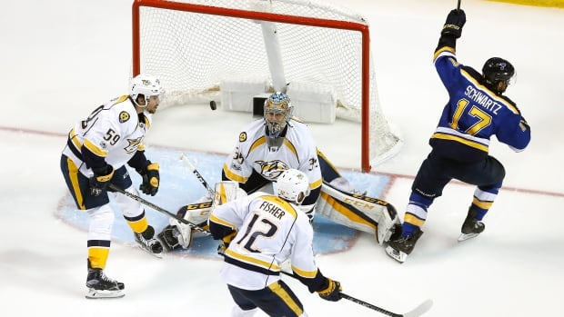 Predators try to finish off Blues at home